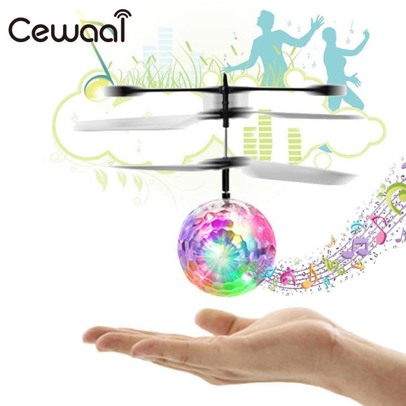Phoota Children Flight Ball Flying Ball Drone Induction Aircraft Light Mini Shinning LED Lighting Musical Shape Helicopter Gift  MartLion