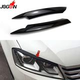 Piano Black For Volkswagen VW Passat B7 2010 - 2014 Car Headlight Head Lamp Light Eyelid Eyebrow Stickers Cover Trim Accessories  MartLion