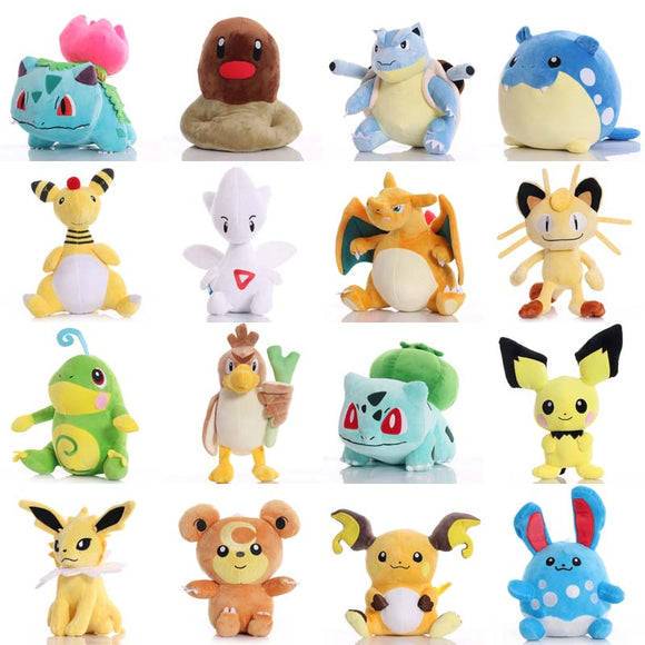 Pikachued Bulbasaur Charmander Eevee Squirtle Snorlax Mewtwo Plush Toy Totodile ice Vulpix Cute Anime Stuffed toy Gifts for kid