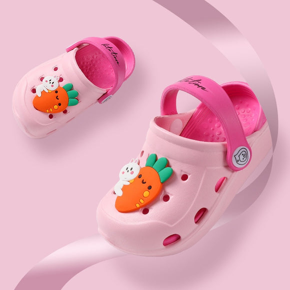 Pink Garden Cave Shoes infant sandals baby Slippers Summer Boy slipper Baby Beach shoes Cute Cartoon Toddler kids slippers Girls - Mart Lion  Best shopping website