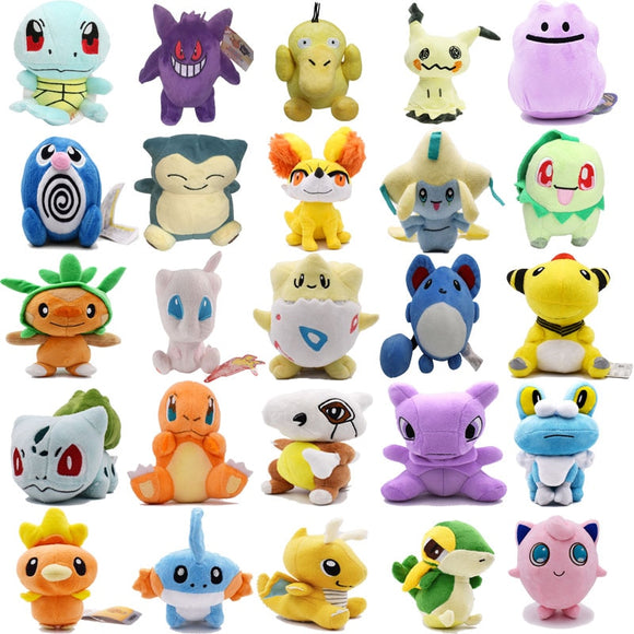 Plush Toys Mimikyu Cubone Charmander Raichu Psyduck Mew Ditto Dragonite Lapras  Peluche Stuffed Dolls For Kids Christmas Gift  MartLion