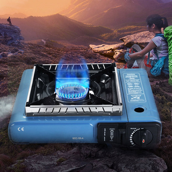 Portable Cassette Gas Stove Outdoor Windproof Wild Gas Barbecue For Camping Hiking Travel Cooker Applicable Grill Dual Stove
