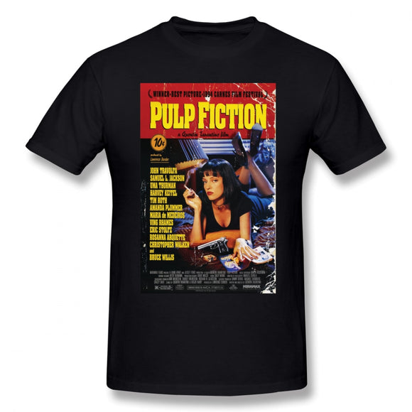 Pulp Fiction T Shirt Pulp Fiction T-Shirt Short-Sleeve 100 Percent Cotton Tee Shirt Funny Streetwear Graphic Man Tshirt - Mart Lion  Best shopping website