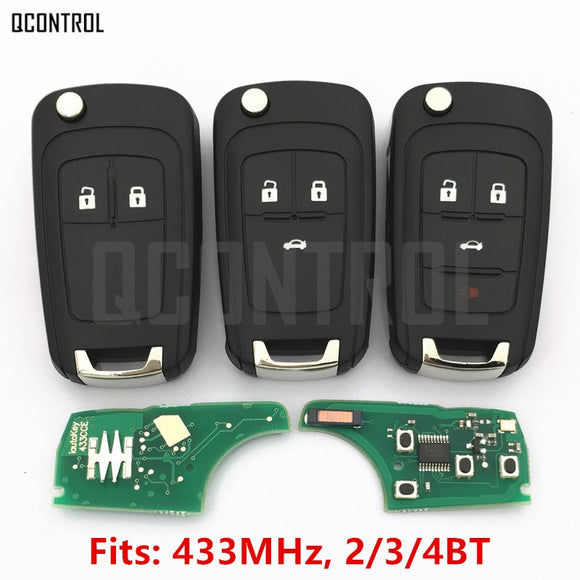 QCONTROL 2/3/4 Buttons Car Remote Key DIY for OPEL/VAUXHALL 433MHz for Astra J Corsa E Insignia Zafira C 2009-2016  MartLion