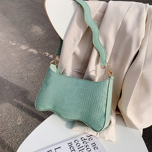 Quality Bags For Women 2020 Retro Small Shoulder Bag Summer Stone Pattern Handbag And Purse Solid Color Leather Totes Bag  MartLion