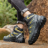 R.XJIAN new high-top waterproof non-slip outdoor hiking shoes couple outdoor sports casual shoes warm and breathable 36-49 size  MartLion