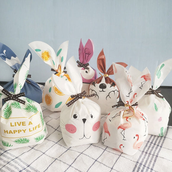 Rabbit Long Ear For Sweets Cute Bunny Wedding Party Goodie Bags Packing Cake Bonbonniere Gift Bag Packaging Candy Cookie Present  MartLion