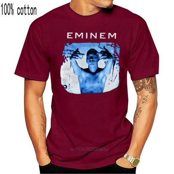 Rare Hot Vintage 1999 Eminem Slim Shady Tour New Reprint Hot Size Print T Shirts Man Short Sleeve T-Shirt Top Tee Plus Size