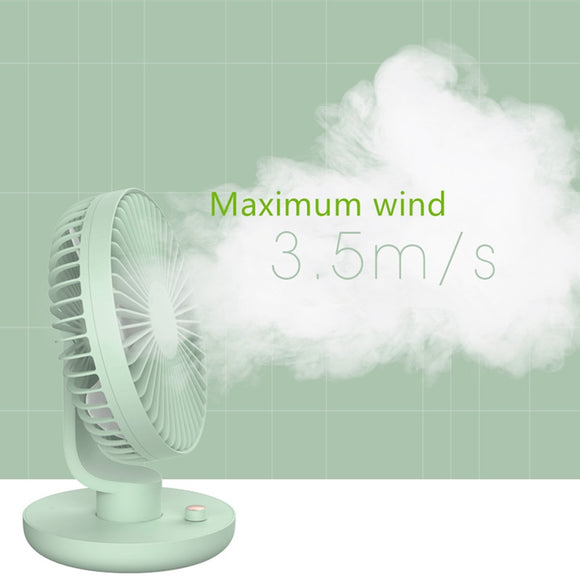 Rechargeable Fan Desktop Electric Fan USB Mini Fan Mute 120 Degree Shaking Head Fan Portable Fan Usb Rechargeable - Mart Lion  Best shopping website