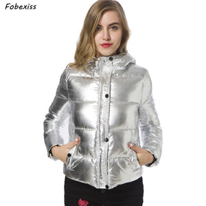 Reflective Winter Jacket Silver Bubble Puffer Parka Hooded Cold Short Padded Coat Winter 2019 New Plus Size Winter Jacket Women  MartLion