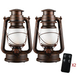 Remote Control LED Vintage Table Lamp RC European Retro Creative Flame Light Cafe Outdoor Lighting Home Decoration Kerosene Lamp  MartLion