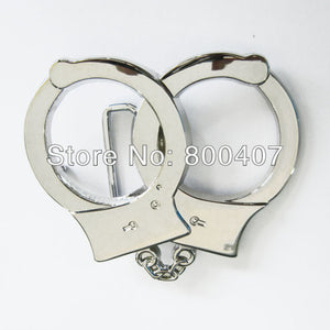 Retail Distribute Handcuffs Shape Belt Buckle (Not Real Handcuffs) BUCKLE-T054 Free Shipping  MartLion