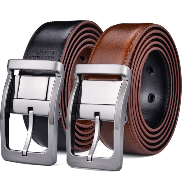 Reversible Leather Belt - Casual for Mens Jeans with Double Sided Strap leather belt  MartLion