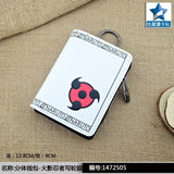Separate Zipper Poucht/Cards Holder Short Purse/White Anime Naruto Shippuden Kakashi with Sharingan PU Wallet  MartLion