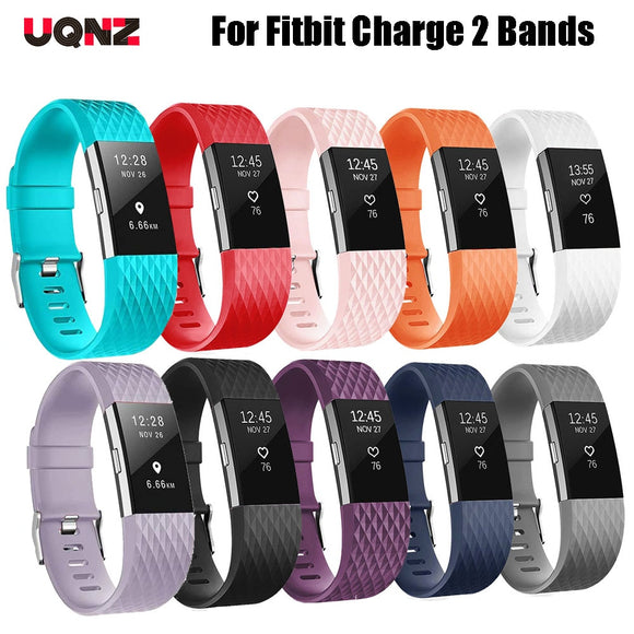 Silicone Band For Fitbit Charge 2 Smart Watch Accessory Sport Wrist Strap Watch Band For Fitbit Charge 2 Small Large  MartLion