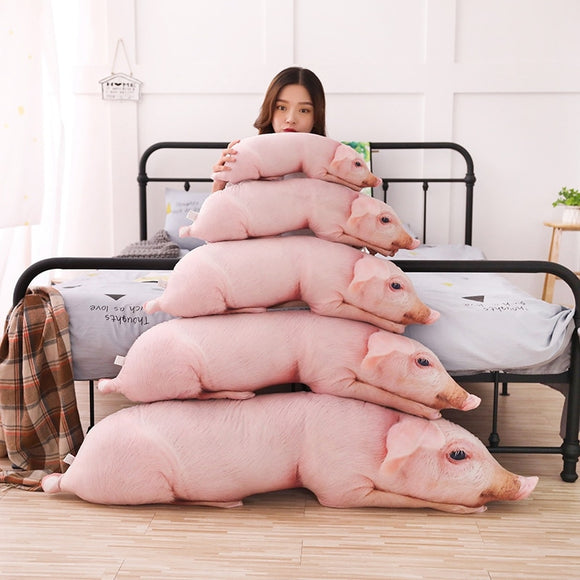 Simulated Sleeping Pig Plush Pillow Animals Stuffed Pillows Kids Adults Pets Bolster Sofa Chair Decor Friend Gift 50/70/90/120cm  MartLion