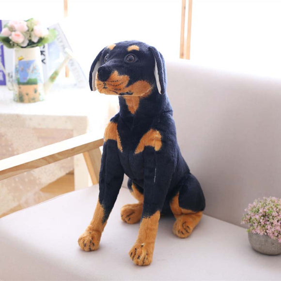 Simulation Dog Plush toy Creative Realistic Animal Sitting Dog Dolls Stuffed Soft Toys for Children Baby Christmas Birthday Gift  MartLion