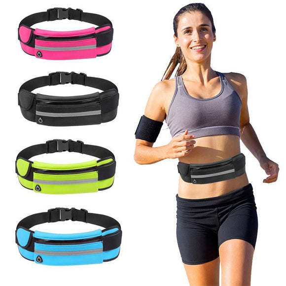 Slim Running Waist Belt Jogging Bag Fanny Pack Travel Money Marathon Gym Workout Fitness Mobile Phone Holder 907  MartLion.com