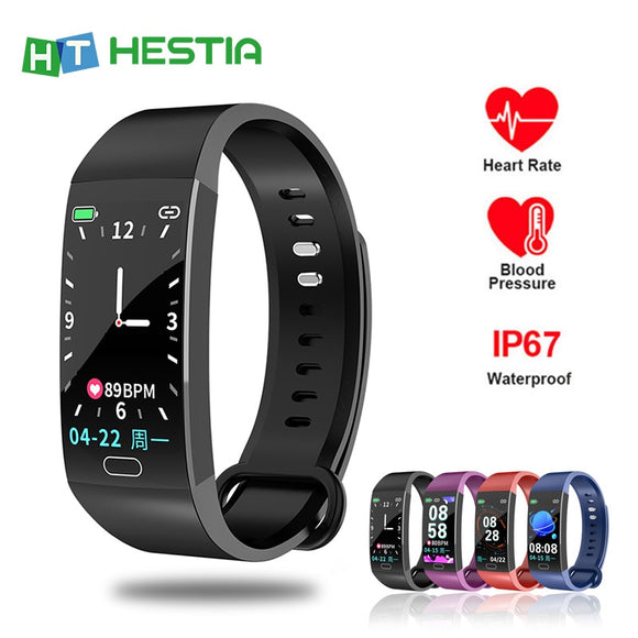 Smart Bracelet Band Measuring Pressure Clock Fitness Bracelet Heart Rate Activity Tracker bracelet smart Wristband Waterproof  MartLion.com