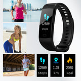 Smart Bracelet Y5 Color Screen  Man Bluetooth  Wristwatch Women Sport Fitness Track Pedometer Hear Rate Blood Pressure Monitor  MartLion