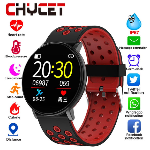 Smart Fitness Bracelet Blood Pressure Measurement Fitness Tracker Waterproof IP67 Smart Band Watch Heart Rate Monitor Pedometer  MartLion.com