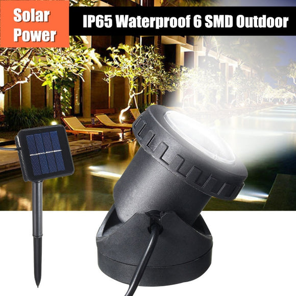 Smuxi 6 LED Solar Garden Spot Light Outdoor Lawn Landscape Pool Pond Yard Powered Spotlight IP68 Waterproof Solar Lamp  MartLion