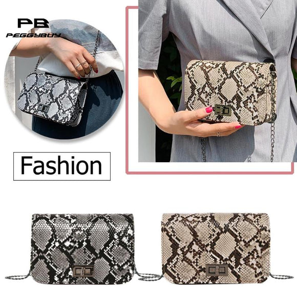 Snake Print Women Shoulder Bag luxury handbags women bags designer Luxury Wild Girls Small Square Messenger Bag bolsa feminina - Mart Lion  Best shopping website