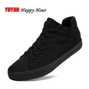 Sneakers Mens Canvas Shoes Fashion Cool Street Sneakers Breathable Men's Casual Shoes Male Brand Classic Black White Shoes KA241  MartLion