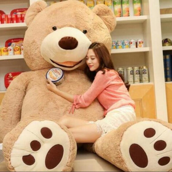 Soft American Giant Bear Skin Bear Toy Big Animals Bears Coat For GirlFriend Valentine Day Gift Animal Teddy Bear Coa