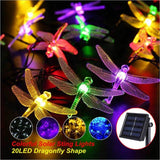 Solar Christmas Lights 30 LED 8 Modes Solar Dragonfly Fairy String Lights for Xmas Party garden Decorations Outdoor Solar Lamp  MartLion