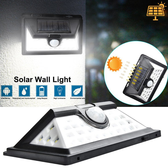 Solar Lights 32 LED 52LED Garden Wall Lamp Outdoor Security Lighting Waterproof Motion Sensor Detector Lampe Solaire Exterieur  MartLion