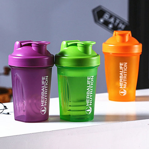 Sport Shaker Bottle 400Ml Whey Protein Powder Mixing Bottle Sport Fitness Gym Shaker Outdoor Portable Plastic Drink My Bottle  MartLion.com