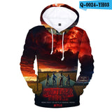 Stranger Things 3D  Character Printing Leisure Spring Autumn  Male Female Sweatshirt Hoodies Street Harajuku Hip Hop Tops  MartLion