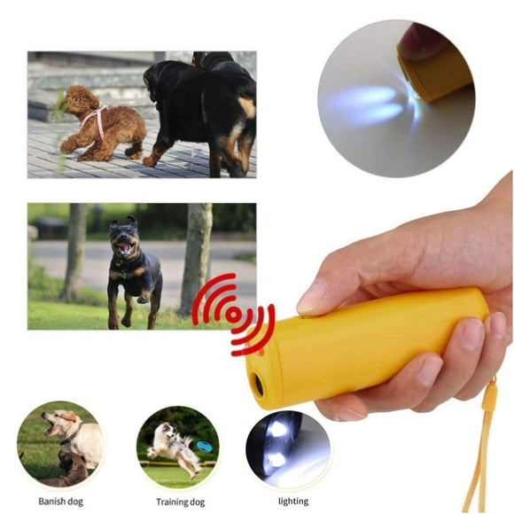 Strengthen Pet Dog Training equipment Ultrasound Repeller 3 in 1 Control Trainer Device Anti Barking Stop Bark Deterrents  MartLion.com