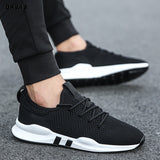 Summer Brand Fashion Men Casual Shoes Light Breathable Mesh Shoes Men Sneakers Lace Up Gray White Black Red Male Shoes 2020 New  MartLion
