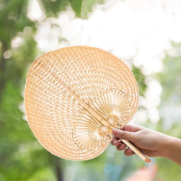 Summer Fan Cooling Bamboo Hand Fan DIY Pure Handmade Heart Shaped Woven Fans For Home Chinese Fans abanico de mano 10