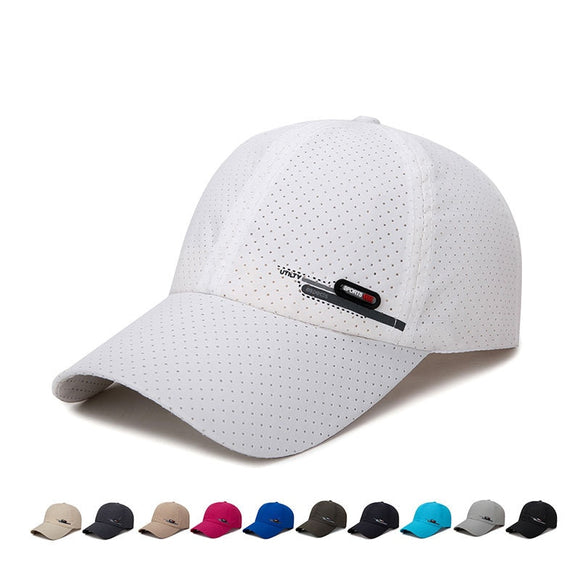 Summer New Breathable Perforation Quick-drying Fabric Baseball Cap Men's Outdoor Fishing Riding Travel Sunscreen Caps for Men  MartLion