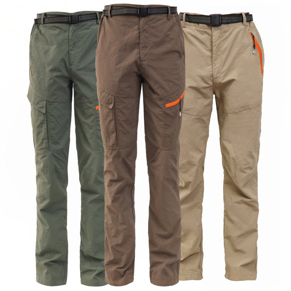Summer Outdoor Sports Men Climbing Camping Fishing Trekking Hiking Quick Dry Pants Women Breathable Tactical Waterproof Trousers  MartLion.com