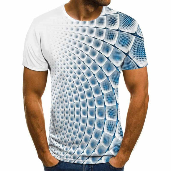 Summer Three-dimensional 3D vortex T-shirt Men Women Fashion 3D T Shirt Short Sleeve Harajuku Hip Hop Cute Tshirt  MartLion