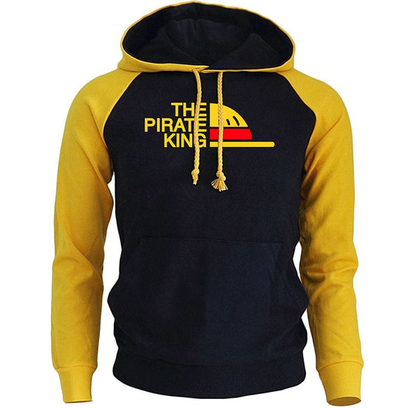 THE PIRATE KING Streetwear Hoodies For Men 2018 Autumn Winter Fleece Sweatshirt ONE PIECE Anime Harajuku Men's Hoodie Pullover  MartLion