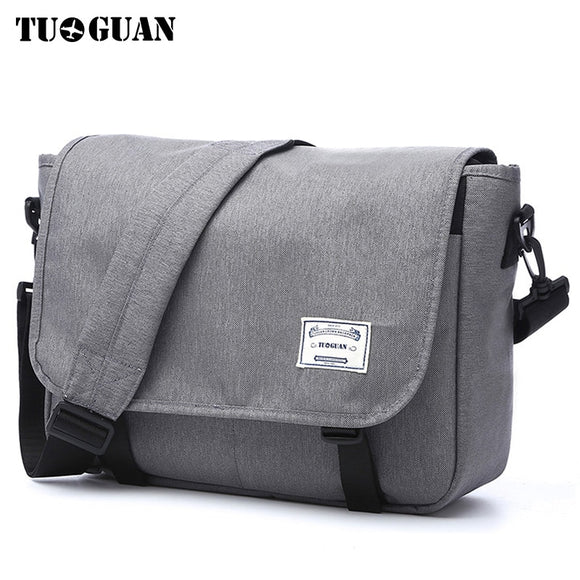 TUGUAN Men Messenger Bags Men's Fashion Business Travel Shoulder Bags female Canvas Briefcase Men Crossbody Bag Handbag XB1701T  MartLion