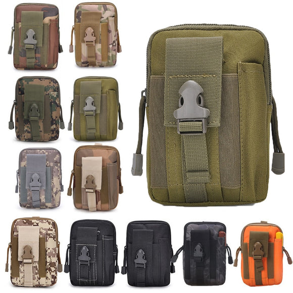 Tactical Molle Pouch Military Men Hip Waist Belt Bag Small Pocket Running Pouch Outdoor Travel Camping Bags Phone Case - Mart Lion  Best shopping website