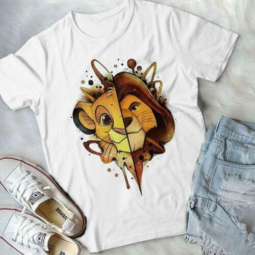The Lion King Simba Faces  T Shirt White Cotton Men  US Supplier Men Women Unisex Fashion tshirt Free Shipping - Mart Lion  Best shopping website