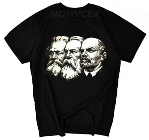 The Soviet union The great communist Lenin ,Marx ,Engels DIY Men's short sleeve T-shirt cccp - Mart Lion  Best shopping website