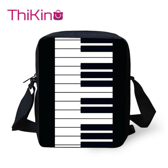 Thikin Piano Music Shoulder Messenger Bag for Girls Crossbody Phone Bag for Boys Phone Bag Shopping Bags Mochila Infantil  MartLion