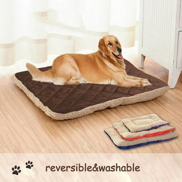Two Sides Plush Pet Mat Soft Warm Dog Cat Bed Kennel Puppy Sleeping Beds For Small Medium Large Dogs Pet Blanket Dropshipping  MartLion.com