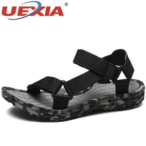 UEXIA New Summer Shoes Men Sandals Camouflage Beach Soft Comfortable Fashion Coles Non-slip Breathable Outdoor Casual Walking  MartLion