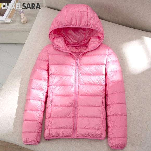 Ultra Light White Duck Down Jacket Women Autumn Winter Warm Coat Lady Plus Size 7XL Jackets Female Hooded Parka  MartLion