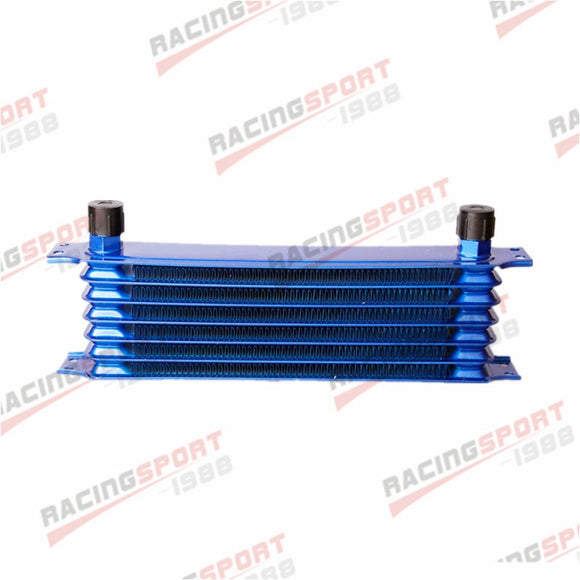Universal 7 Row -10AN AN10 Engine Transmission Oil Cooler Trust Style Blue  MartLion
