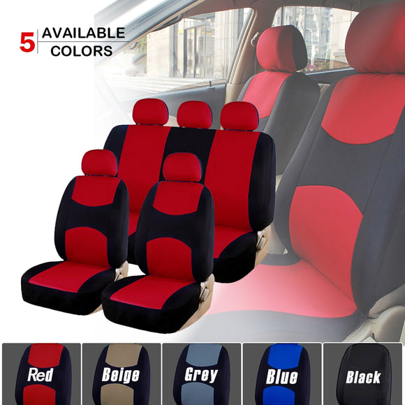 Universal Car Seat Covers Protectors for Most Sedan Interior Decoration Automobile Winter Full Set Breathable 5 Color